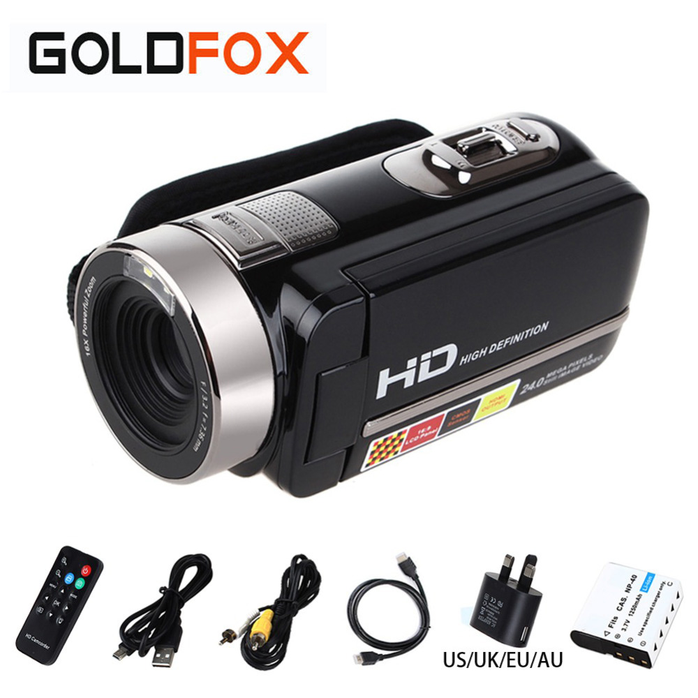 """3.0"""" Digital Video Camera Rotatable LCD Screen Mini Camcorder 1080P Full HD 24 MP CMOS Support Face Detection(China (Mainland))"""