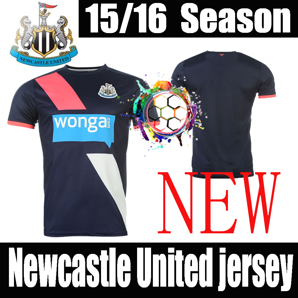 Newcastle 2016 United Soccer Jersey Newcastle Football Shirt 15/16 Colback Janmaat Gouffran Cisse Perez Sissoko Cabella Jersey	(China (Mainland))