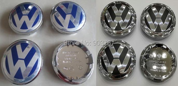 40pcs 65mm VW WHEEL CENTER HUB CAP full chromed volkswagen alloy blue / black GOLF PASSAT BEETLE car badge wholesale<br><br>Aliexpress