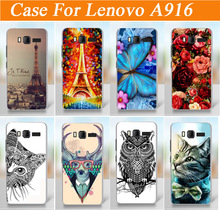 painting colored case cover for Lenovo A916 / fashion diy 3d painted tiger lion rose flowers design case for lenovo a916 cover