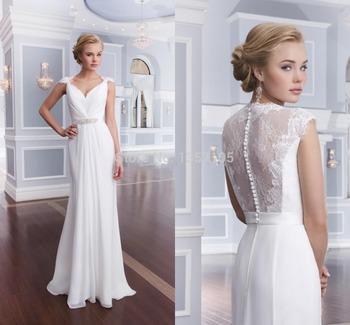 2015 слоновая кость платье-линии свадебные платья для беременных невеста v-образным ...