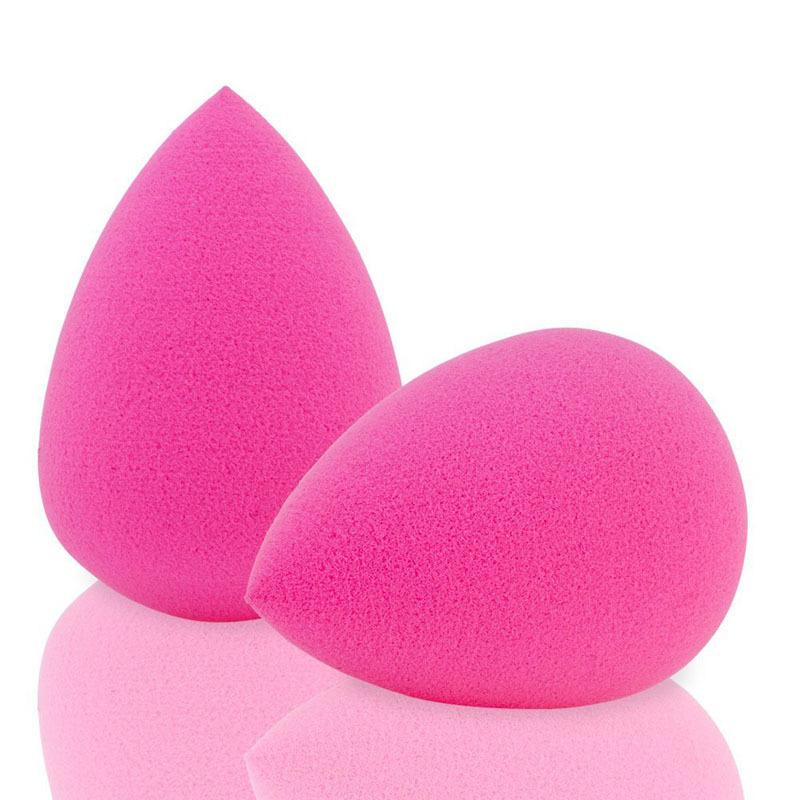 2pc/lot Makeup Foundation Sponge Pink Latex Free Blender Blending Cosmetic Puff Professional Beauty Makeup Tools Makeup Puff(China (Mainland))