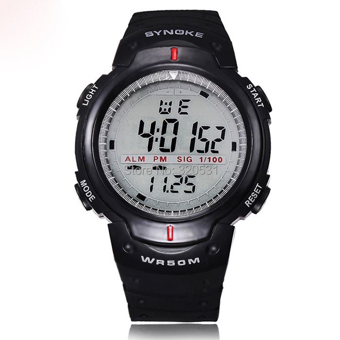 men timer waterproof swimming sports running digital watch ...