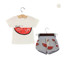 2015 Children Clothing Set Summer Style Kids Clothes Cotton Baby Boy Clothes Bobo Choses Girls Clothes