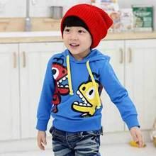 New Fashion Kids Boys Girls Hoodies Children Cartoon Dinosaur Long Sleeve Cute Sweatshirts Autumn Tops, Free Shipping MY012(China (Mainland))
