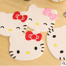 Kawaii Hello Kitty Face Soft Silicone Coffee Coaster,Skidproof Cup,Sweet Cup Mat Coaster Retail KCS(China (Mainland))