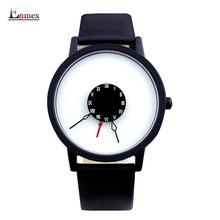 2016 men gift Enmex brief design creative Upside down hand unique design for young fashion unique quartz watches(China (Mainland))