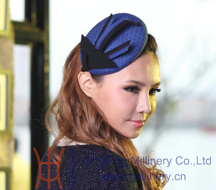 Free Shipping Fashion Elegant Beautiful Women Fascinator Blue Delicate Hair Accessories For Hair Fascinator Hats Blue Hairband(China (Mainland))