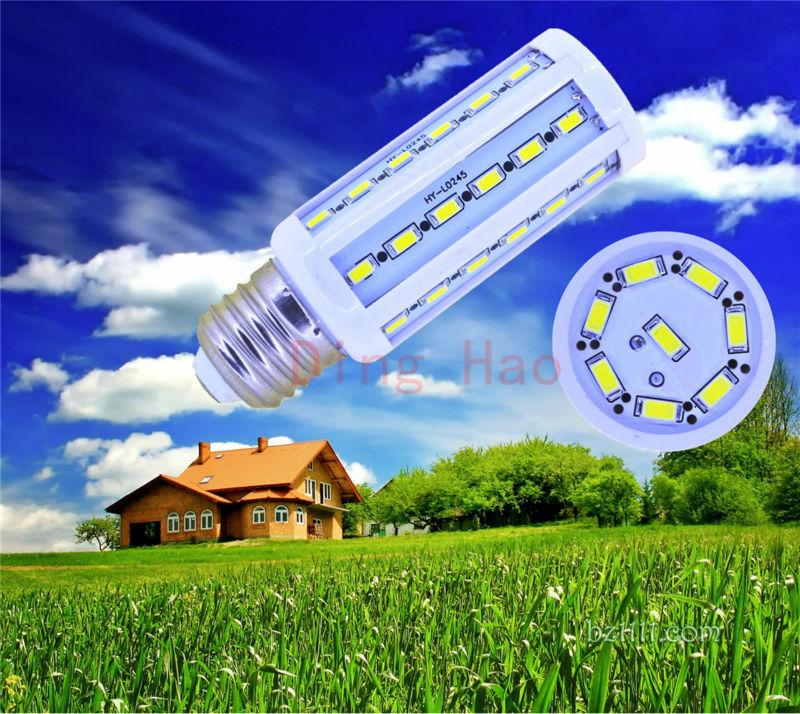1 pieces / lot Corn Bulb B22 E14 E27 12W 5730 5630 SMD 44 LED Light Home Bedroom Lamp LED Corn Bulb AC 220V AC 110V(China (Mainland))