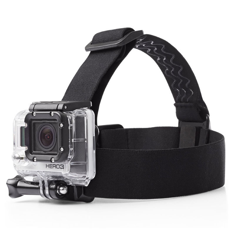 Accessories for Hero 4/3+/3/2 Elastic Head Strap Adjustable Headstrap Go pro SJ4000 Head Belt HD Camera Black Edition for Gopro
