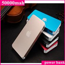 1 pcs shiping for iPhone Power Bank 50000 mAh Dual USB carregador de bateria externa Powerbank for Samsung(China (Mainland))