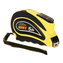 #Cu3 New 5M (16ft) Self Lock Measuring Tape Easy Read Rubber Case(China (Mainland))