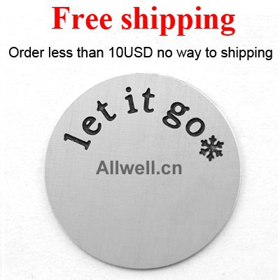 Free shipping Stainless Steel floating plates LARGE SILVER let it go snowflake of Frozen theme song for LIVING locket 30mm(China (Mainland))