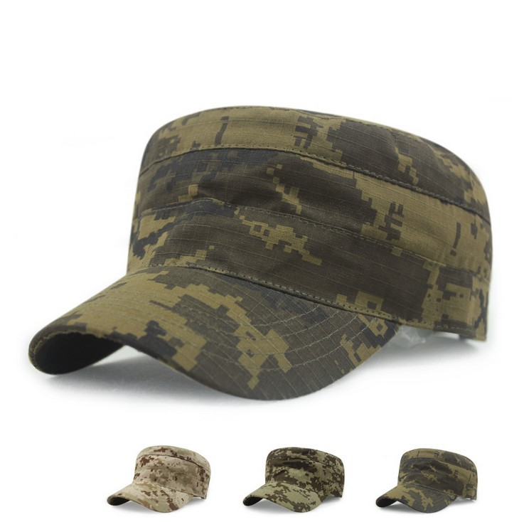 Summer sun shade flat cap camouflage plaid army hat outdoor sports baseball cap 3color 1pcs(China (Mainland))