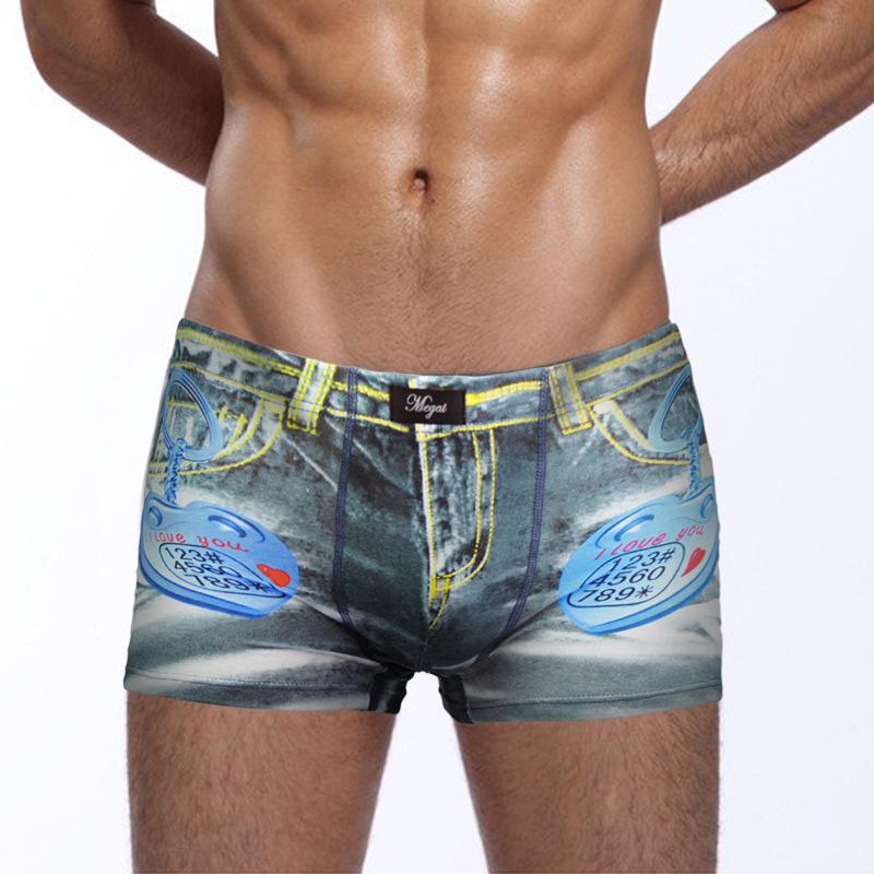 Top Brand men panties print Underwear Sexy Cotton Boxers Mens Underwear Boxers Shorts Men Underwear Sexy Boxer Shorts Man(China (Mainland))
