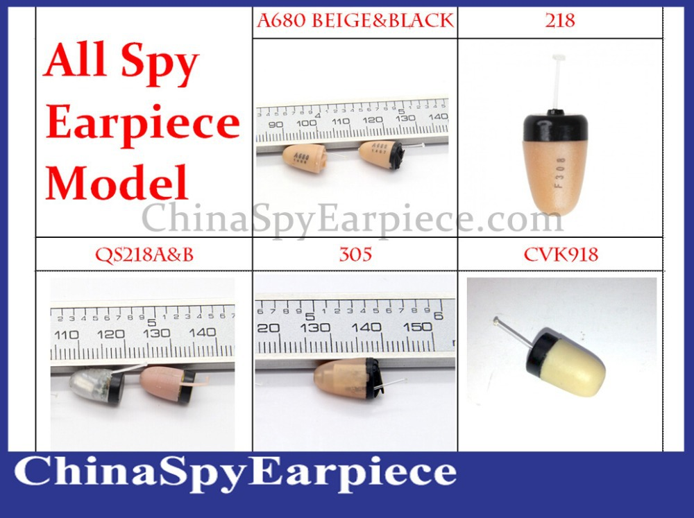 All Type Invisible Spy Micro In Ear Covert Earpiece For All Inductive kits GSM Kits Wireless Bluetooth Kits 1pcs Sell(China (Mainland))