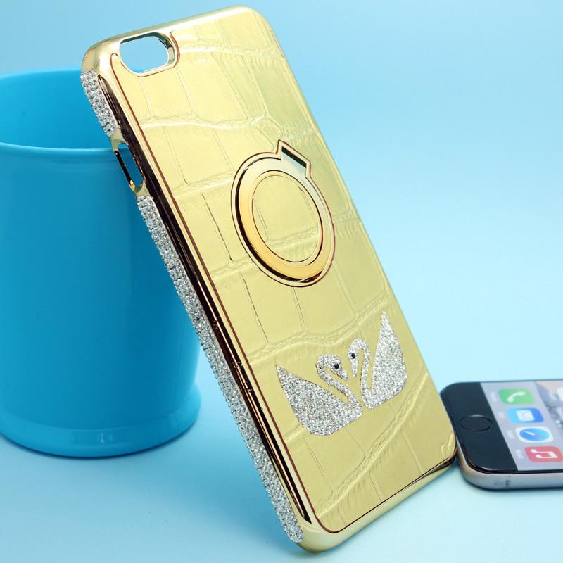 Luxury Brand Rhinestone Diamond Bling Case Cover Bumper For iPhone 6G 4.7 Fashion Women Case Colar Feminino Gifts Leather Case(China (Mainland))