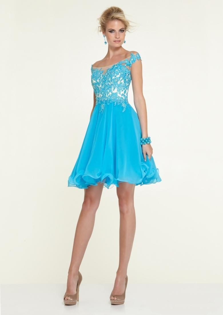 2015-new-prom-Dresses-Beautiful-Scoop-Lace-Chiffon-Short ...