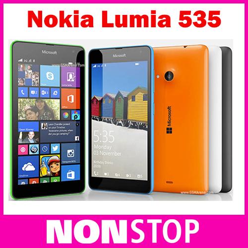 "Nokia Lumia 535 Quad Core Dual SIM Original Cell Phone Qualcomm 5.0"" Touch Screen 5MP Camera WCDMA 3G Window Phone Refurbished(China (Mainland))"