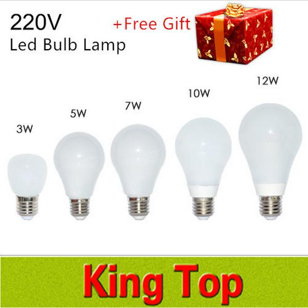 100% New Epistar 3W 5W 7W 10W 12W LED E27 LED lamp lights Warm/White Led Bubble Ball Bulb AC220V 230V 240V With 3Years Warranty(China (Mainland))