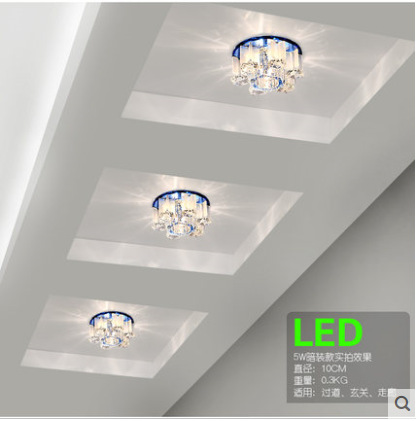 2015 Hot ceiling lights LED Ceiling small crystal entrance hall corridor aisle lighting fixtures lamparas de techo led crystal l<br><br>Aliexpress