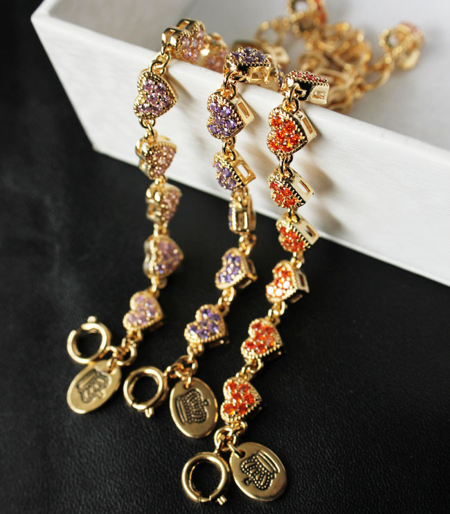 famous brand jewelry party Princess heart shaped alloy bracelet colors optional cm(China (Mainland))