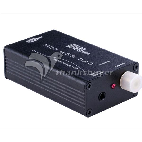 MUSE HiFi PCM2704 USB to S/PDIF Converter DAC Sound Card Amp Black(China (Mainland))