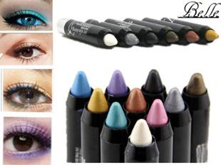 2015 New Magic 12 Colors Cosmetics Makeup Pen Waterproof Eyeshadow Eye Liner Lip Eyeliner Pencil(China (Mainland))