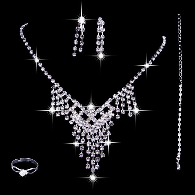 Здесь можно купить  2015 new Bride wedding accessories Jewelry headdress ornaments crown wedding crystal Necklace Set  Ювелирные изделия и часы
