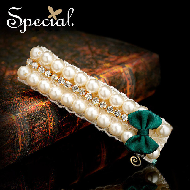 Special New Fashion Wedding Hair Accessories Simulated Pearl Hair Jewelry Bridal Silk Hair Pins and Clip Gift for Women FS141103