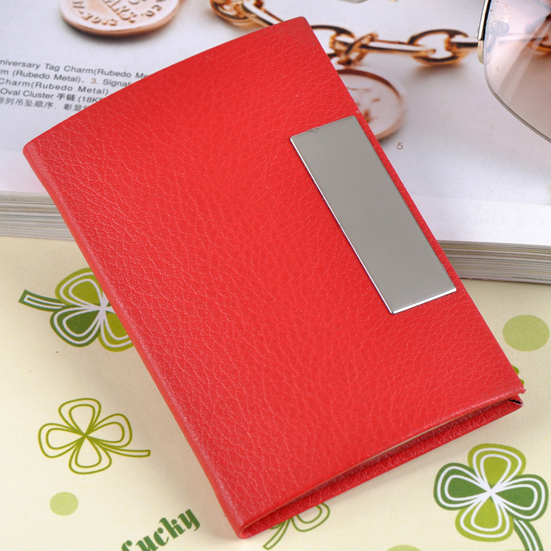 Popular sale New fashion Unisex business card case luxury nice card holder candy color card box for OL business women and men(China (Mainland))