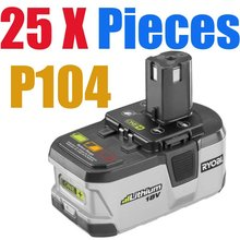 25 Pieces Ryobi 18Volt P104 Lithium Ion Battery One Free Shipping