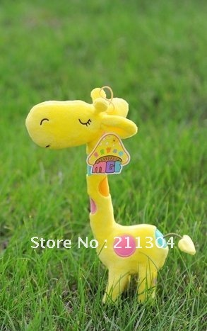 "Large size-Free Shipping Hotsale Plush Toy 20"" tall standing super cute vivid giraffe stuffeds animals dolls kids friends gifts(China (Mainland))"