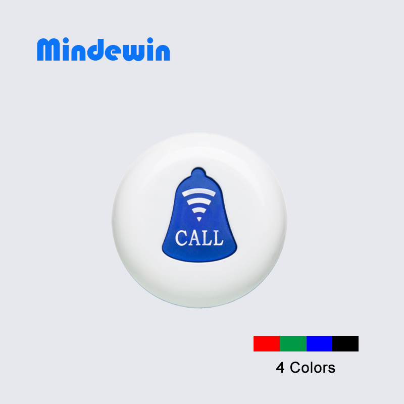 10 PCS Mindewin Restaurant Pager Wireless Calling System Service Call Button Table Transmitter 433MHZ Pager Waterproof M-K-1(China (Mainland))