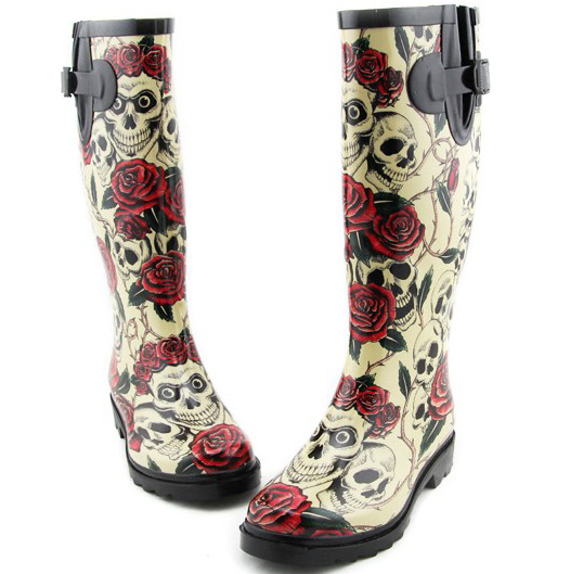 Skull Rain Boots Pictures to Pin on Pinterest - PinsDaddy