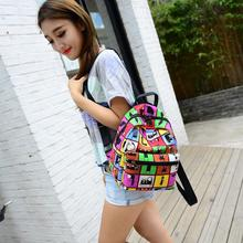 2015 New Woman Backpack Hot Sale Canvas School Bag Printing Lightweight School Backpacks Fashion Women's Bags(China (Mainland))
