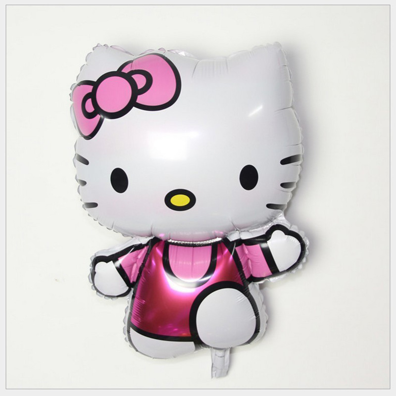 74*47cm Size Hello Kitty Cat Foil Balloons Cartoon Birthday Wedding Globos Party Decoration Inflatable Air Ballons(China (Mainland))