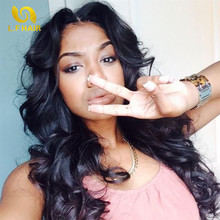 Fabwigs Hair With Closure 6a Peruvian Loose Wave Virgin Hair With Closure 4bundles With Closures Lace Closure With Bundles