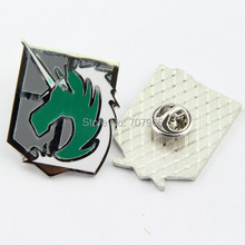 Attack on Titan Cosplay Scouting Legion Badge Recon Corps Brooch Pins Anime