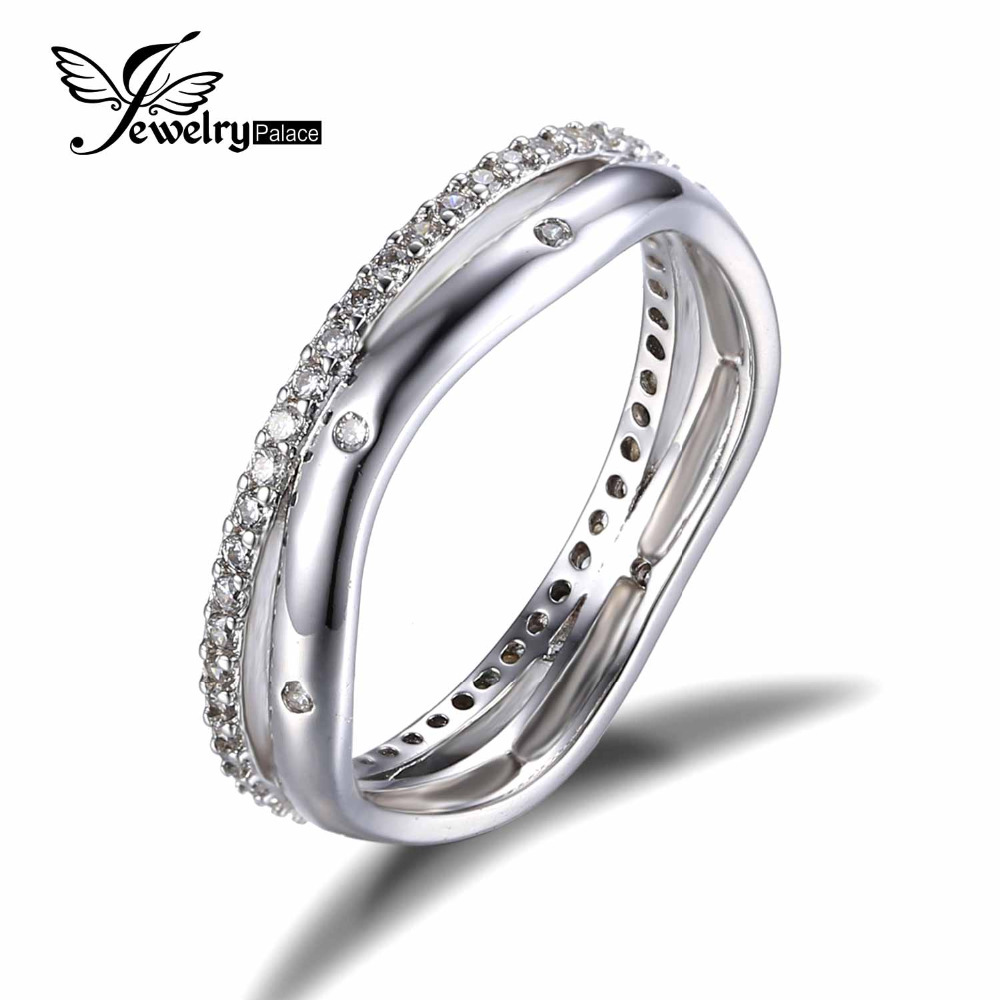 Feelcolor Classic Band Wedding Ring 925 Sterling Silver Fabulous Dazzling Halo Promise Ring Fashion 2016 Brand New Fine Jewelry(China (Mainland))