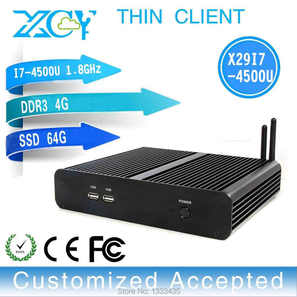 support full screen movies X29-i7 4500u CORE I7 Dual core mini desktop computer VGA embedded mini pc 4gb ram 64gb ssd(China (Mainland))