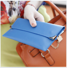 Purse new contracted clamshell flat long wallet. Lady lady's wallet(China (Mainland))