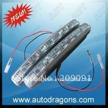 Súper promoción 10% de descuento nuevo 8LED llevó la luz corriente diurna / alta calidad llevó la lámpara corriente diurna luz de niebla envío gratis(China (Mainland))
