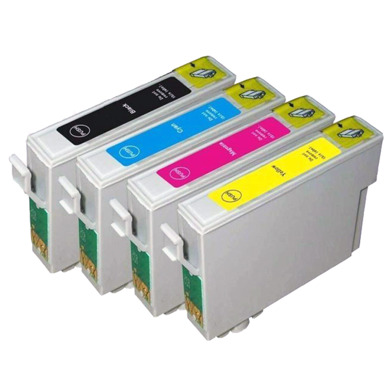 4 X T0711-T0714 Compatible Ink Cartridge For EPSON Stylus DX4000 DX-4000 DX8400 DX8450 DX9400F Inkjet Printer(China (Mainland))