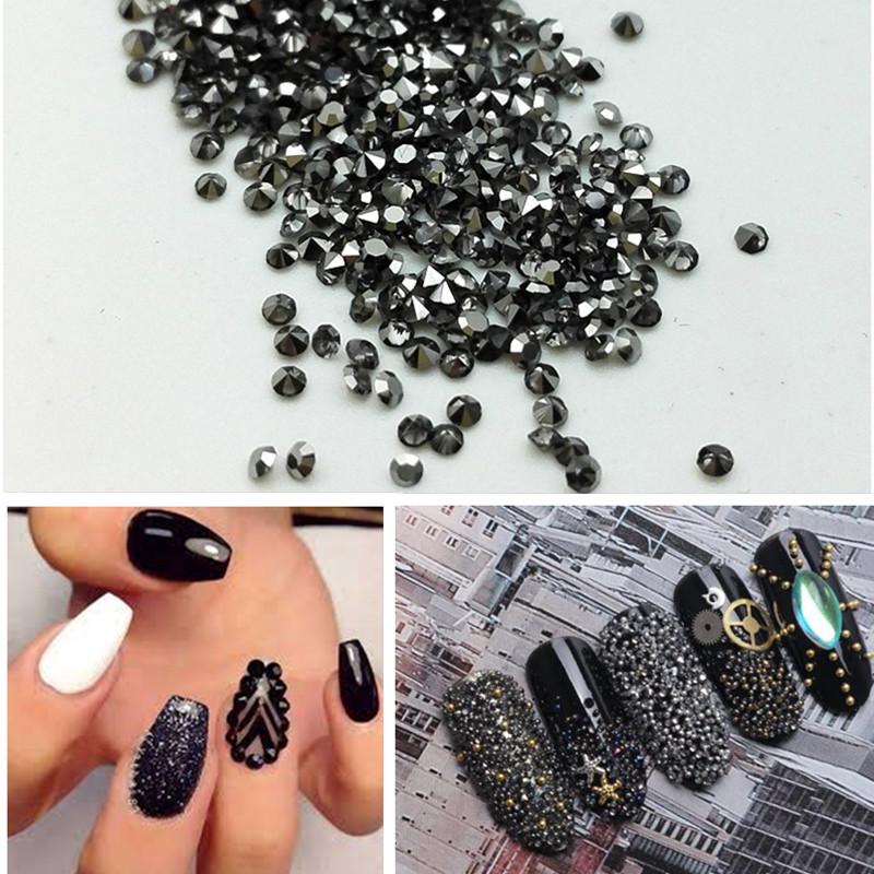 2017 Diamond Nail art 1.2mm 1440pcs/bag Micro Rhinestones Sharp bottom Nails Accesories Decorations(China (Mainland))