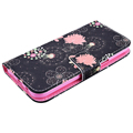 2016 Painted Flower Flip PU Leather Wallet Book Style Case Cover For Samsung Galaxy J5 J3