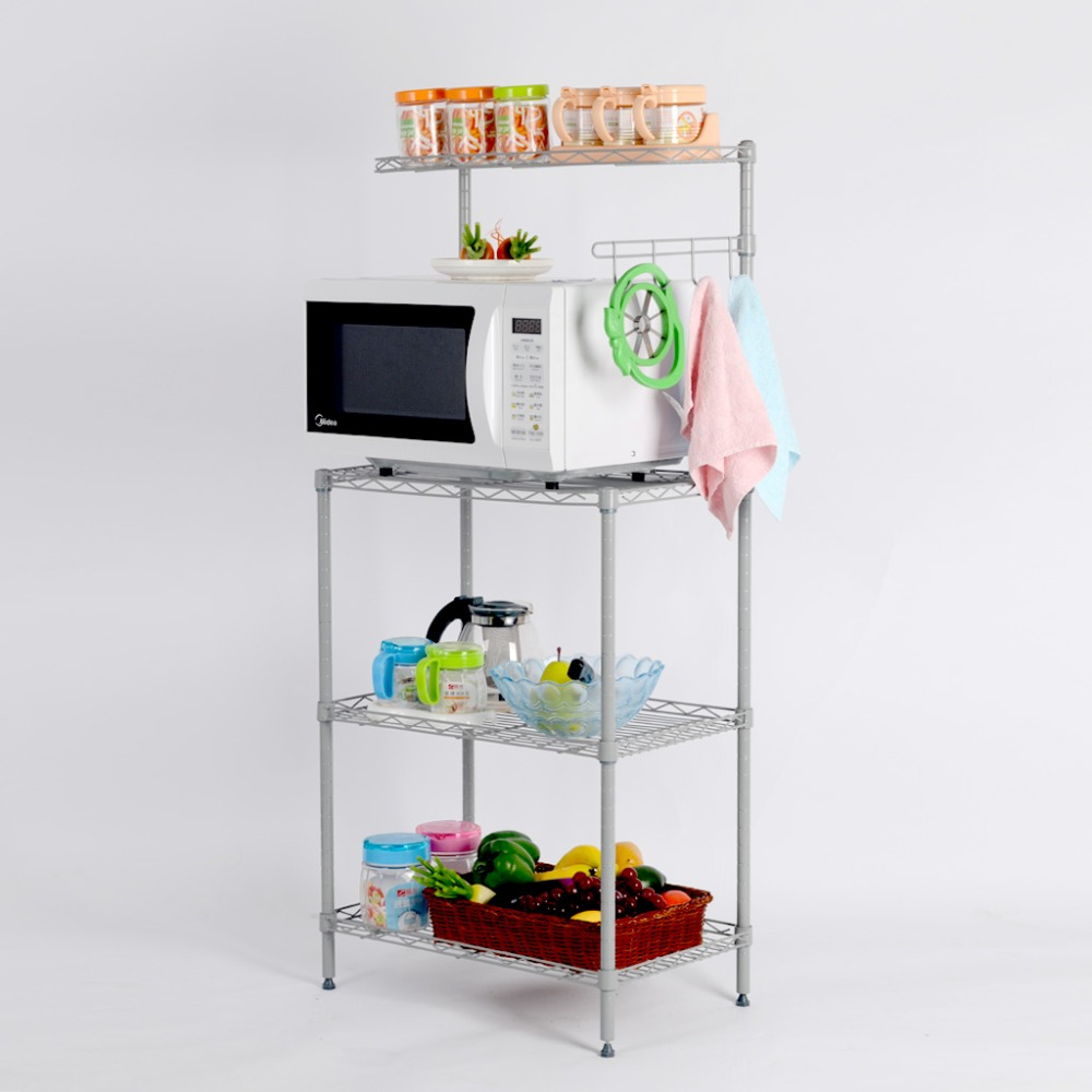 Langria 3-Tier Baker's Multifunctional Rack Microwave Oven Rack with Shelf 3 layer Metal Mesh Storage Shelving Kitchen Holders(China (Mainland))