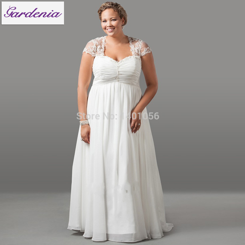 Minor Alteration Bride Dress for Pregnant Summer Style Wedding Dress for Big Lady Plus Size Beach Wedding Dress with Sleeves XXL(China (Mainland))