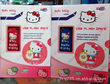 2015 Real New Solar Panel Pink Hello Kitty Cute Little Wholesale U Disk Manufacturers(China (Mainland))