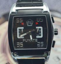 Fuyate reloj mecánico completamente automático reloj para hombre de los muchachos negro moda para hombre reloj j170